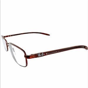 Ray Ban Brown Rectangle Prescription Glasses
